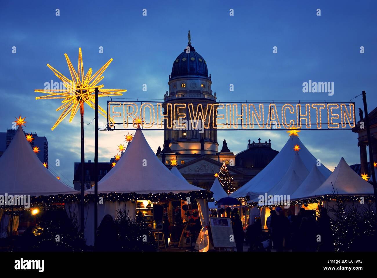 Berlin christmas market - Stock Image