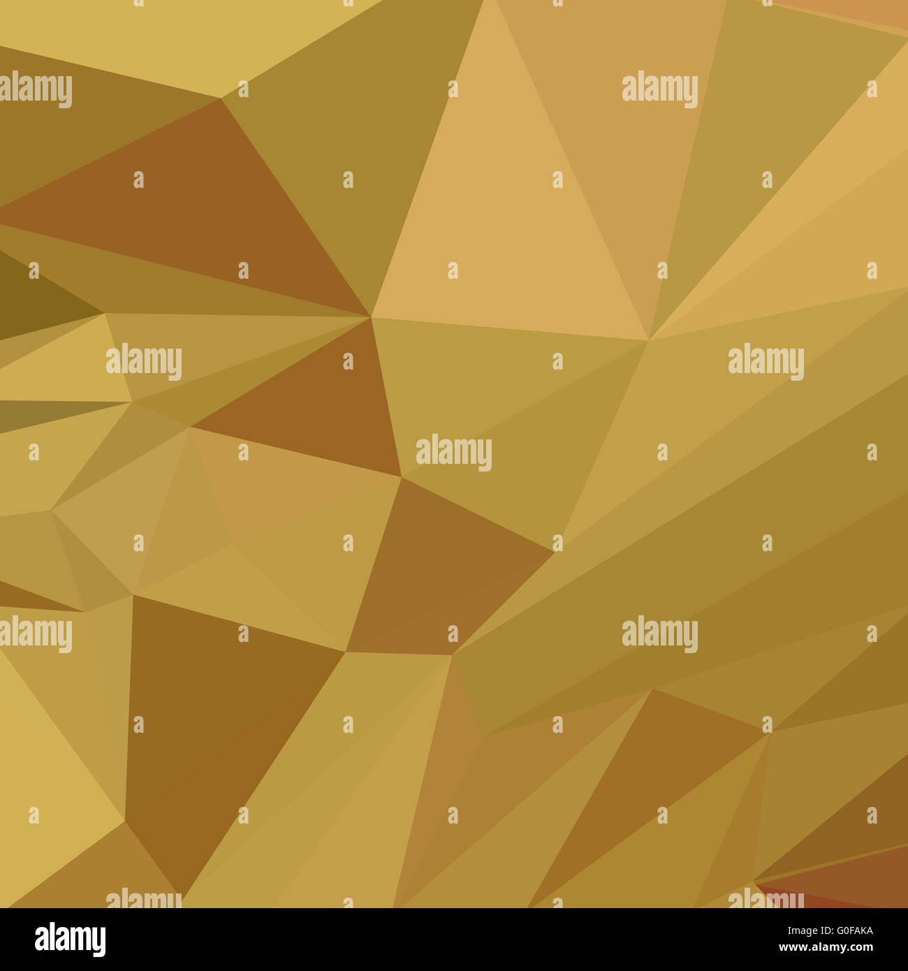 Goldenrod Yellow Abstract Low Polygon Background - Stock Image