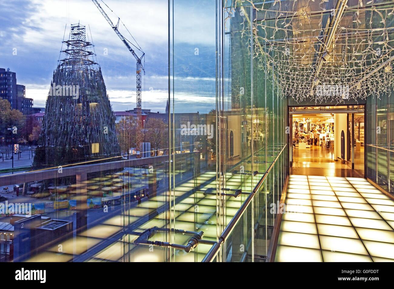 Christmas Department, Store building transition, Dortmund Stock Photo