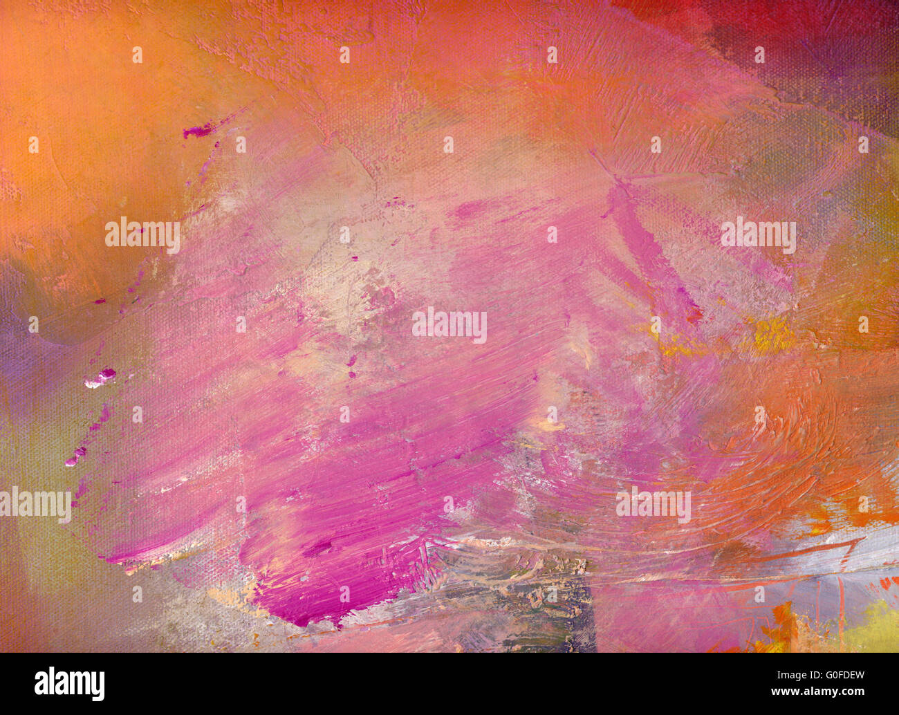 hand painted colorful textures - Stock Image