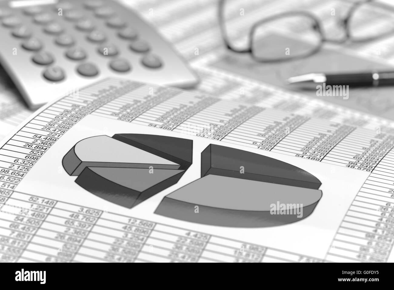 finance, chart and stock exchange - Stock Image