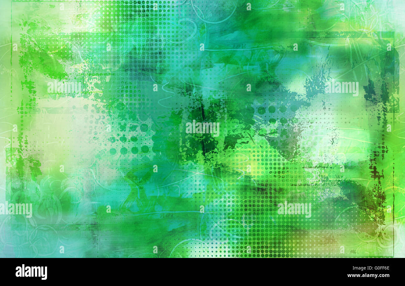 abstract mixed media artwork Stock Photo