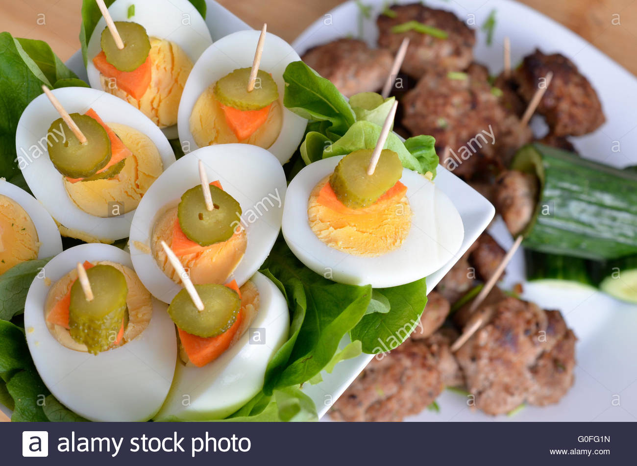 eggs for buffet - Stock Image