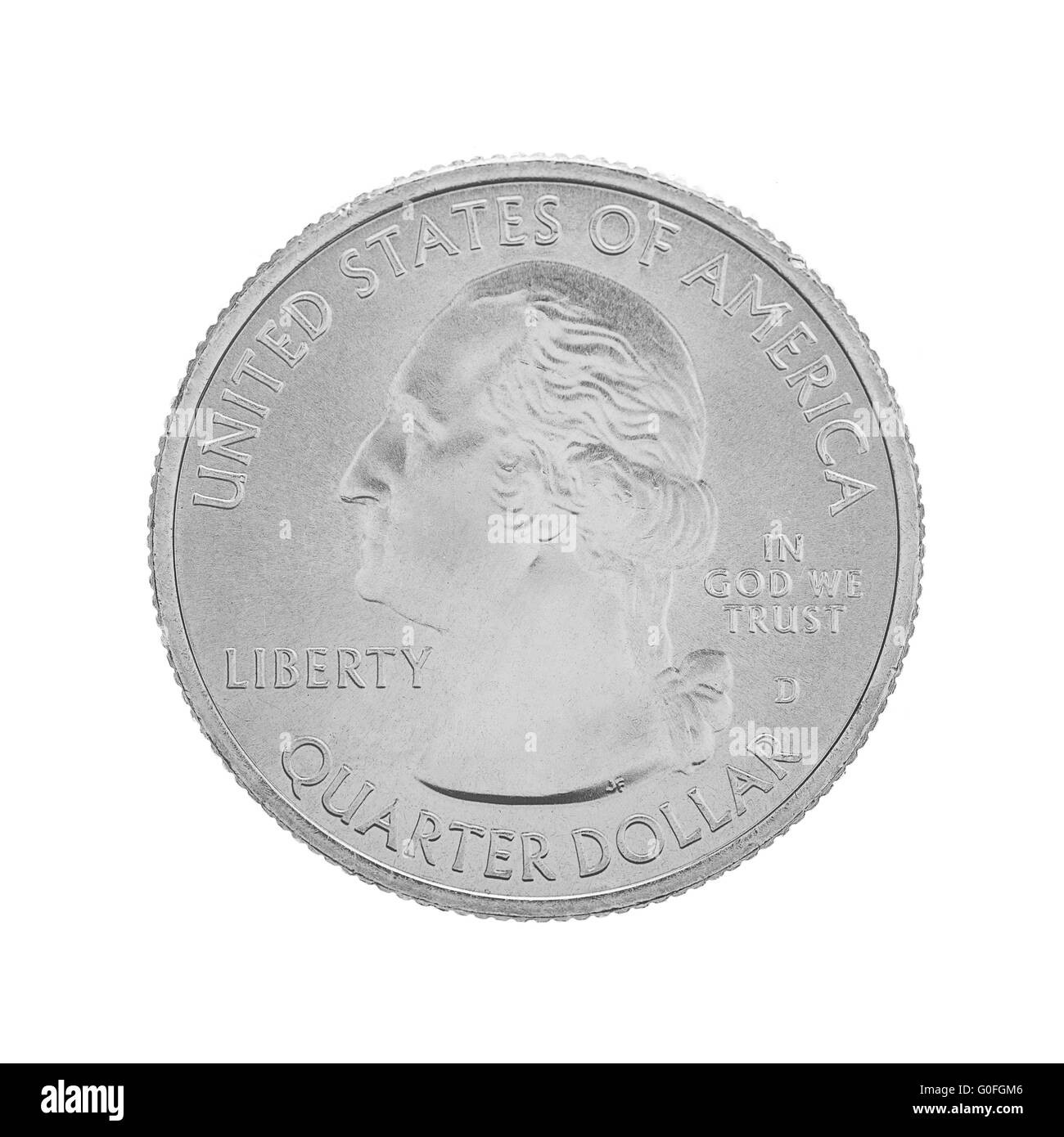 American one quarter coin - Stock Image