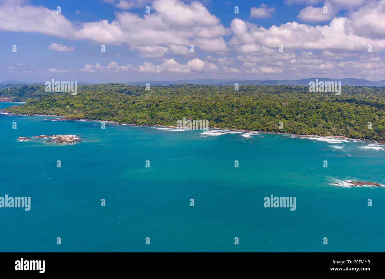 CORCOVADO NATIONAL PARK, COSTA RICA - Pacific coast of Osa Peninsula. - Stock Image
