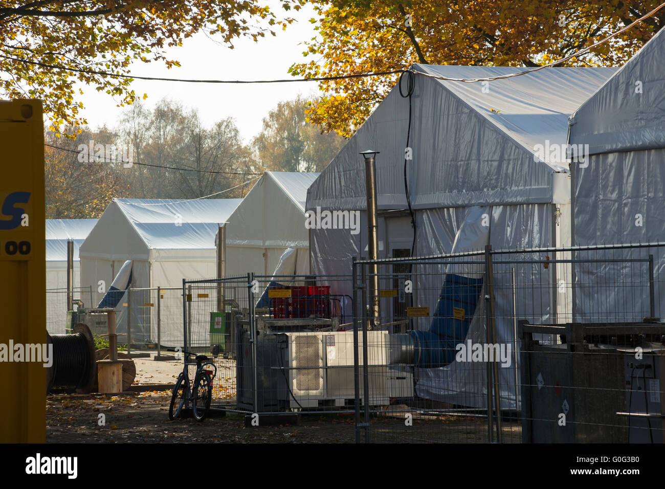 refugee camp - Stock Image