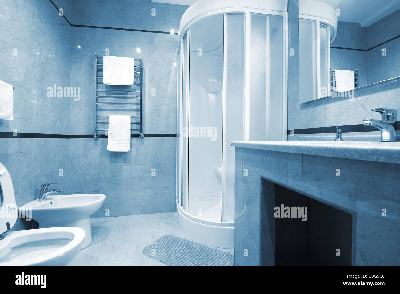 Marble Shower Cubicle Stock Photos & Marble Shower Cubicle Stock ...
