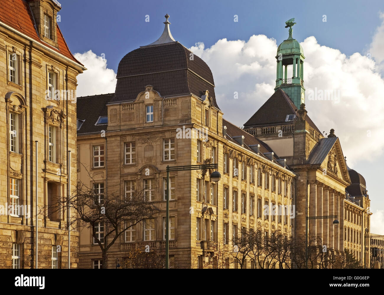 Building of the district government, Duesseldorf, North Rhine-Westphalia, Germany, Europe - Stock Image