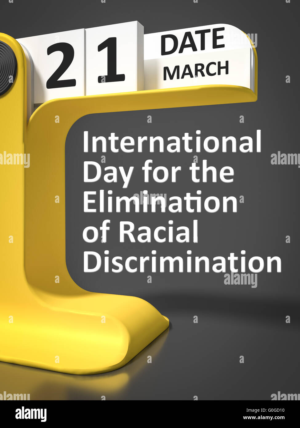 International Day for the Elimination of Racial Discrimination - Stock Image