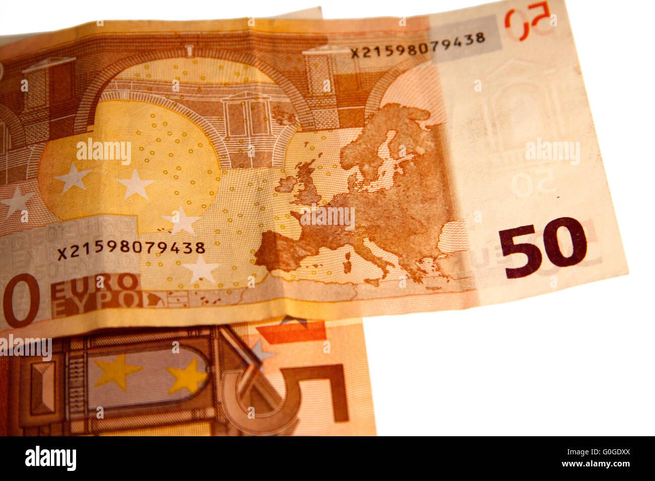50 Euro-Scheine - Symbolbild Geld. Stock Photo