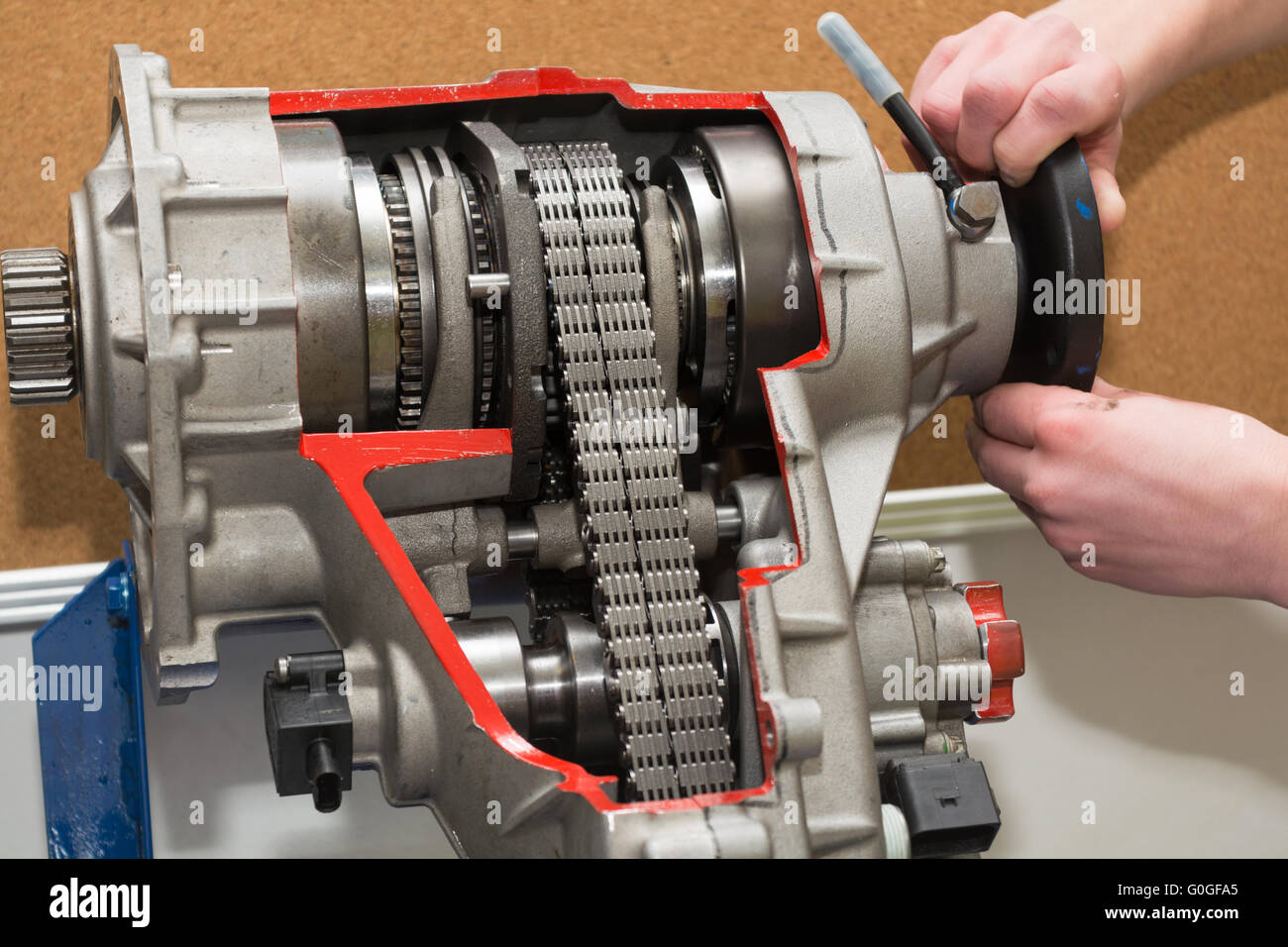 Model shows insight into a transfer case - Stock Image
