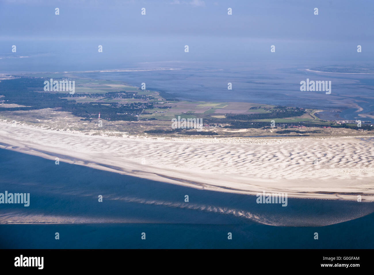 Aerial View of the North German Wadden Sea Stock Photo