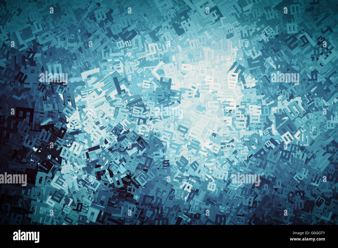 Abstract digits, numbers background. Maths, finance - Stock Image