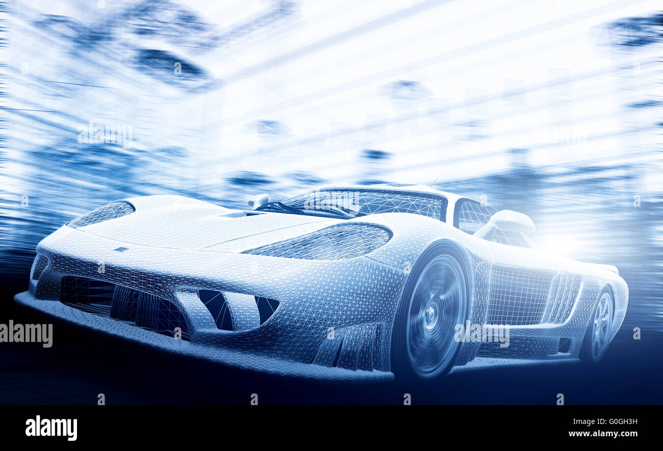 Concept car model in blueprint wireframe technology and ecology concept car model in blueprint wireframe technology and ecology stock photo 103626869 alamy malvernweather Image collections