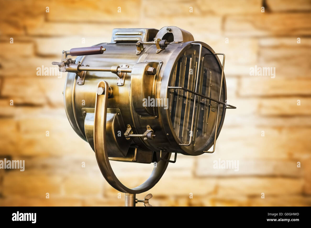 Old Copper Floodlight - Stock Image