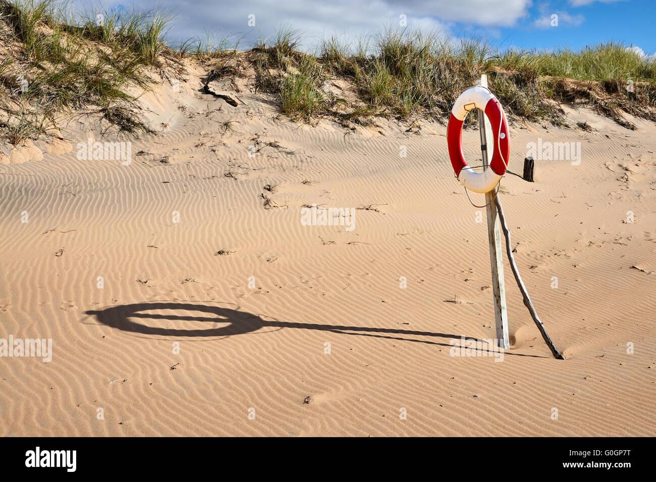 Life-Saver on the Beach Stock Photo