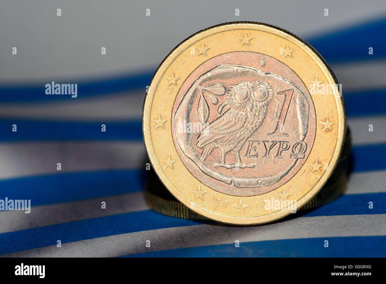 One greek Euro Stock Photo