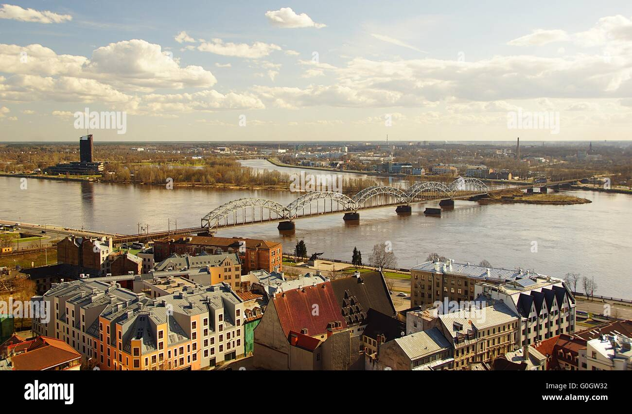 Iron bridge in Riga - Stock Image