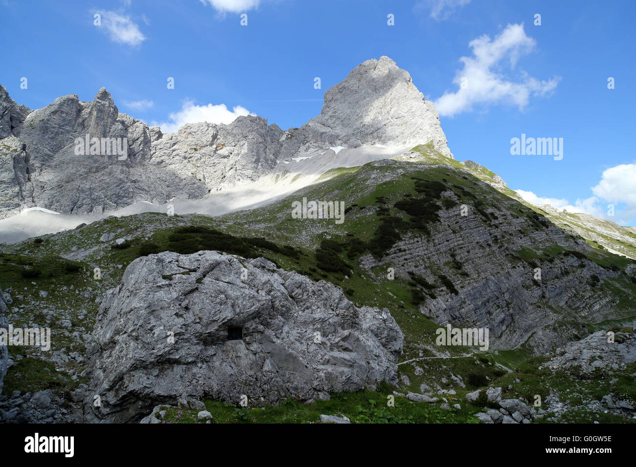 rock peak in the alps Stock Photo