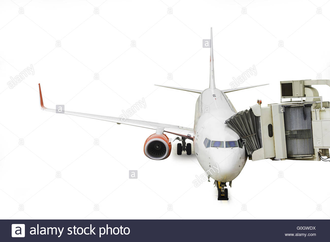 Aircraft maintenance people during refueling. - Stock Image