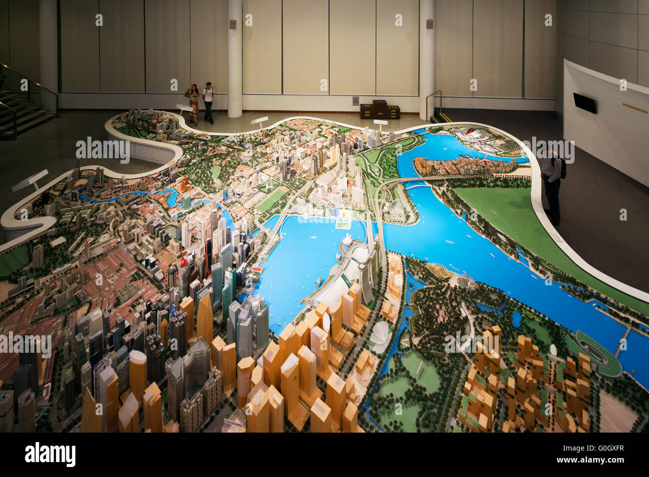South East Asia, Singapore, City Planning scale model of Singapore Stock Photo