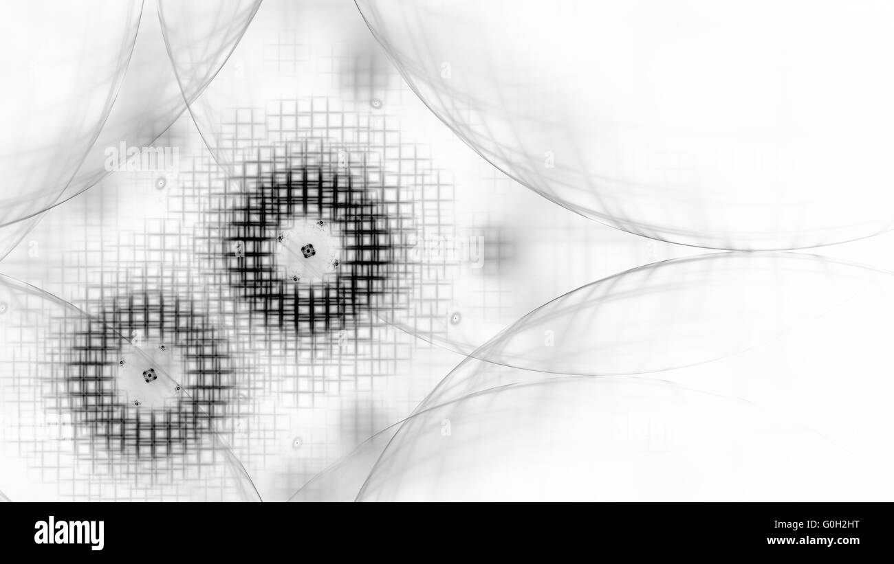 fractal sketch - Stock Image