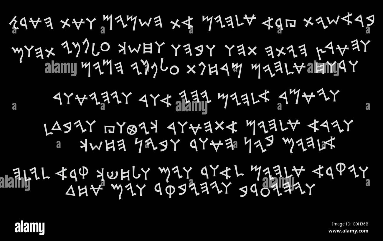 A Fragment of Phœnician manuscript - Stock Image