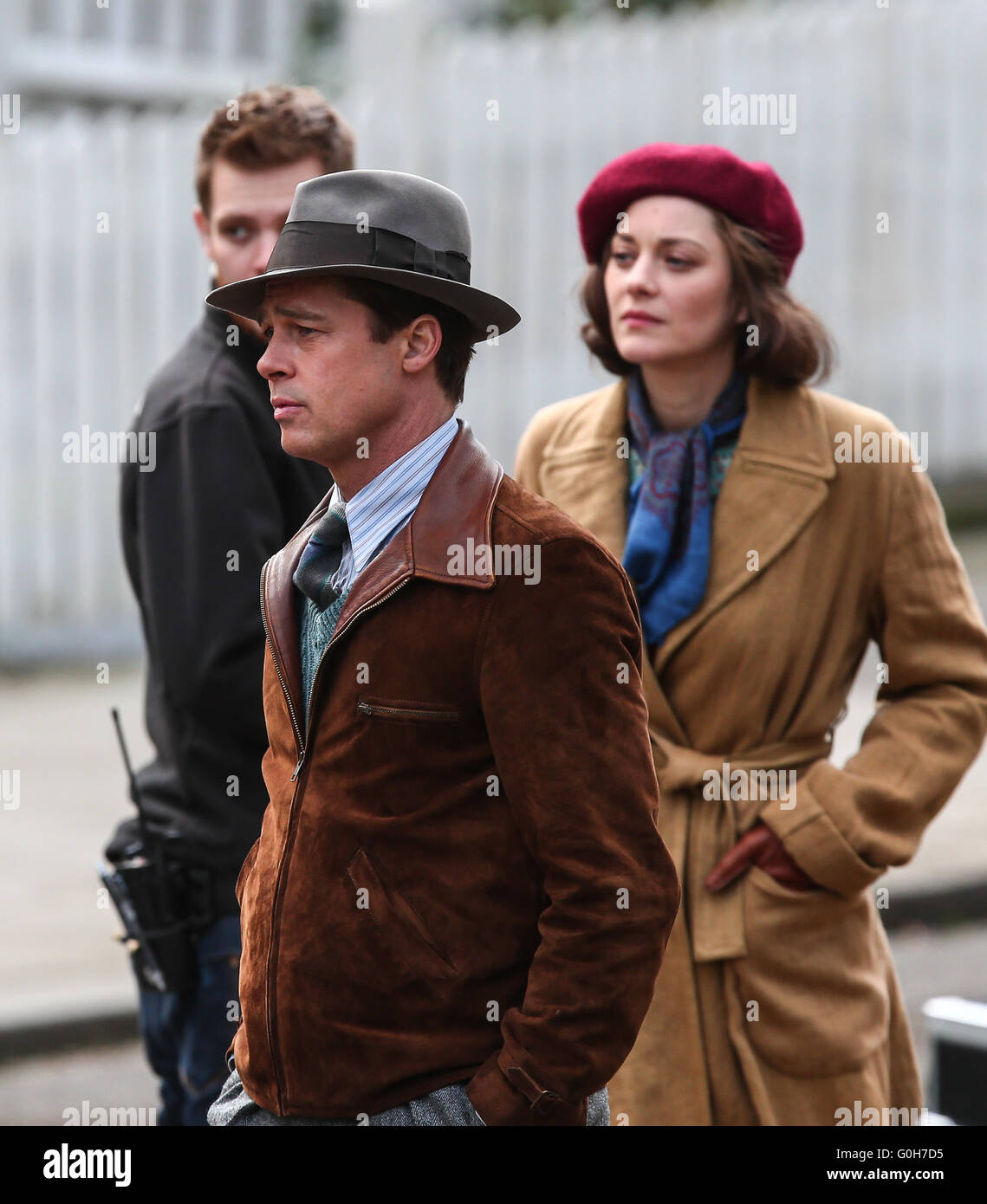 Brad Pitt And Marion Cotillard Film A Scene For The Movie Five