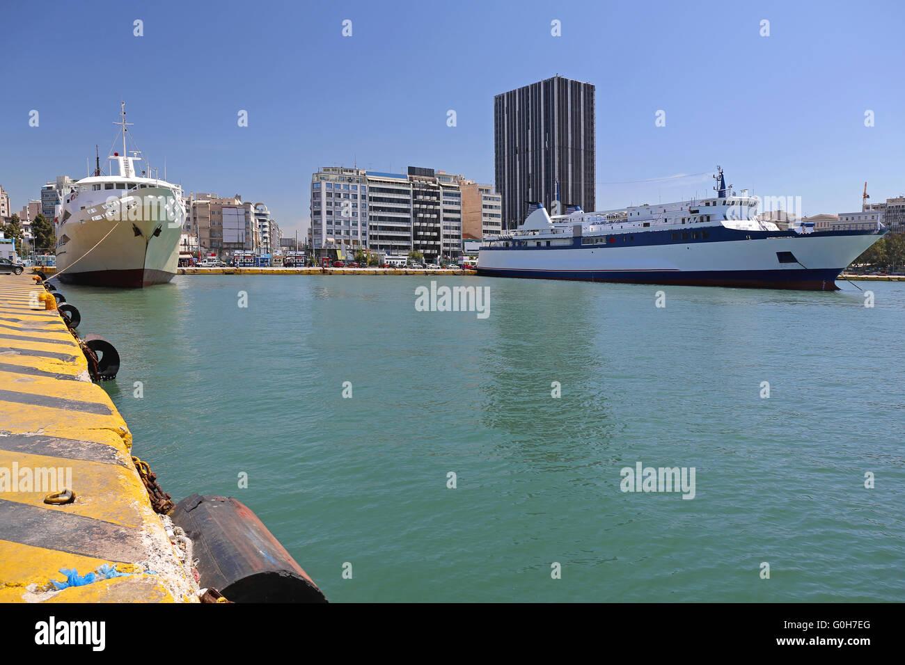 Pireaus Port - Stock Image
