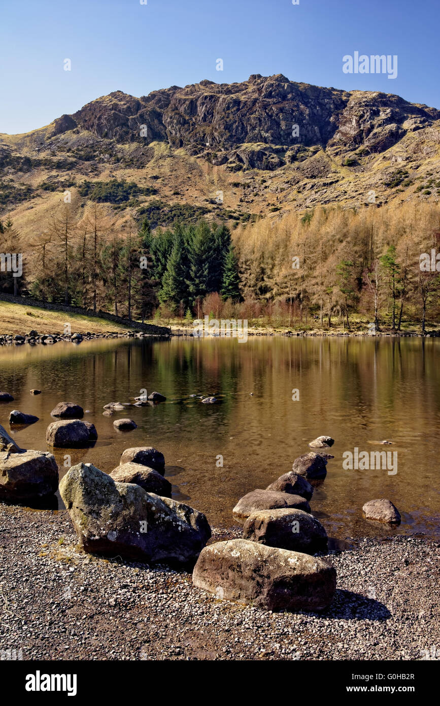 UK,Cumbria,Lake District,Blea Tarn Stock Photo