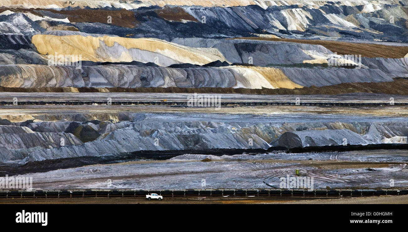 brown coal surface mining Inden, North Rhine-Westphalia, Germany, Europe - Stock Image