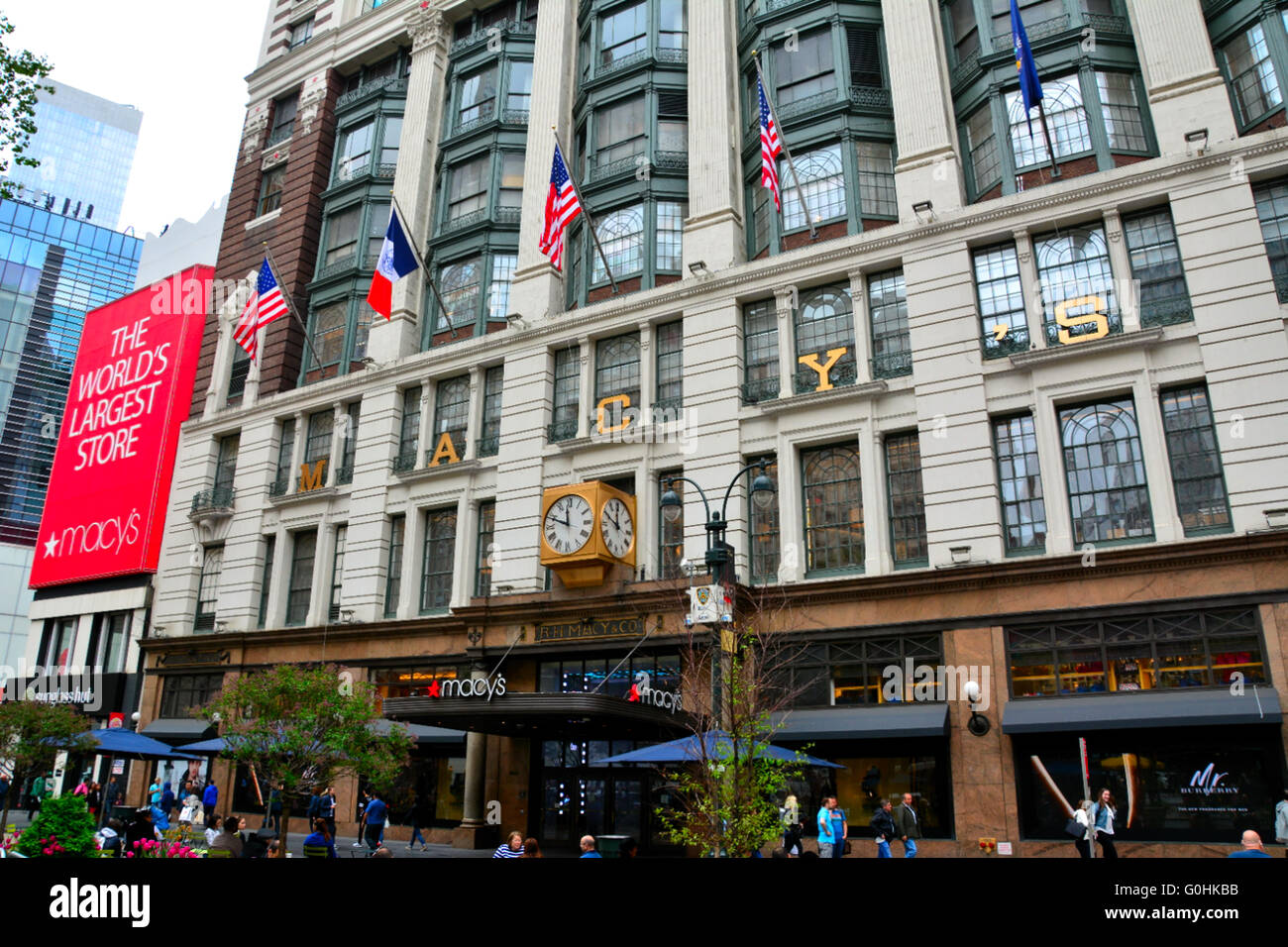 Macy's flagship department store in New York City, USA - Stock Image