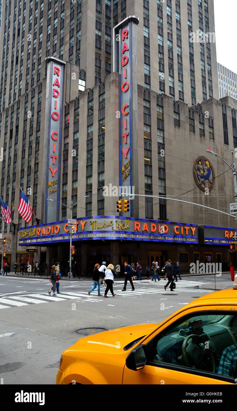 Radio City Music Hall, NYC,USA - Stock Image