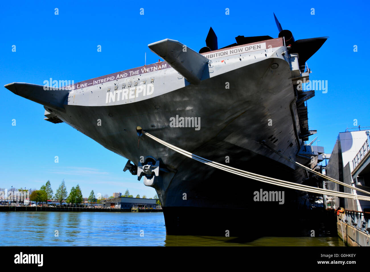 USS Intrepid, moored at Pier 86,New York City,USA Stock Photo