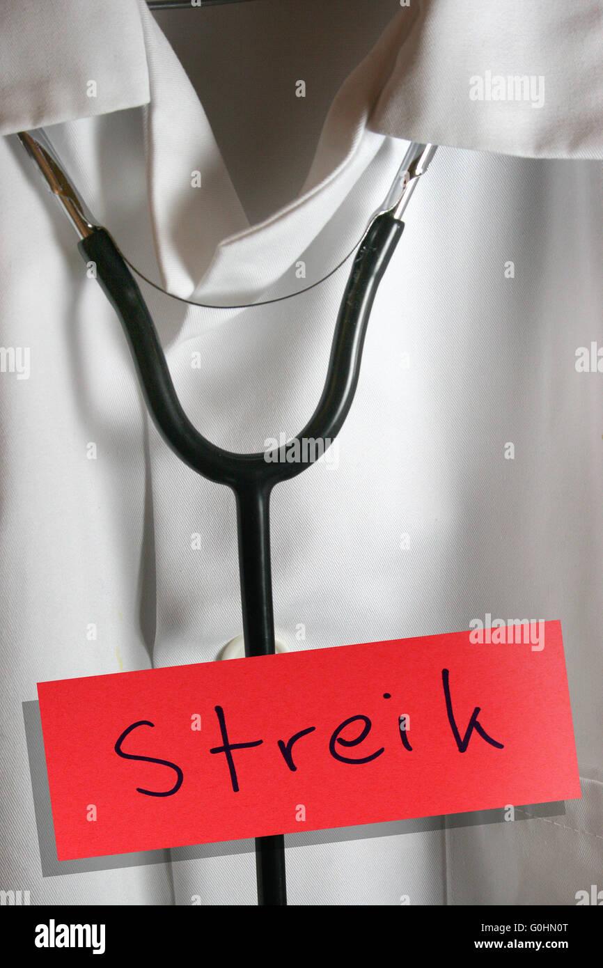 Aertzestreik - physicians on strike Stock Photo