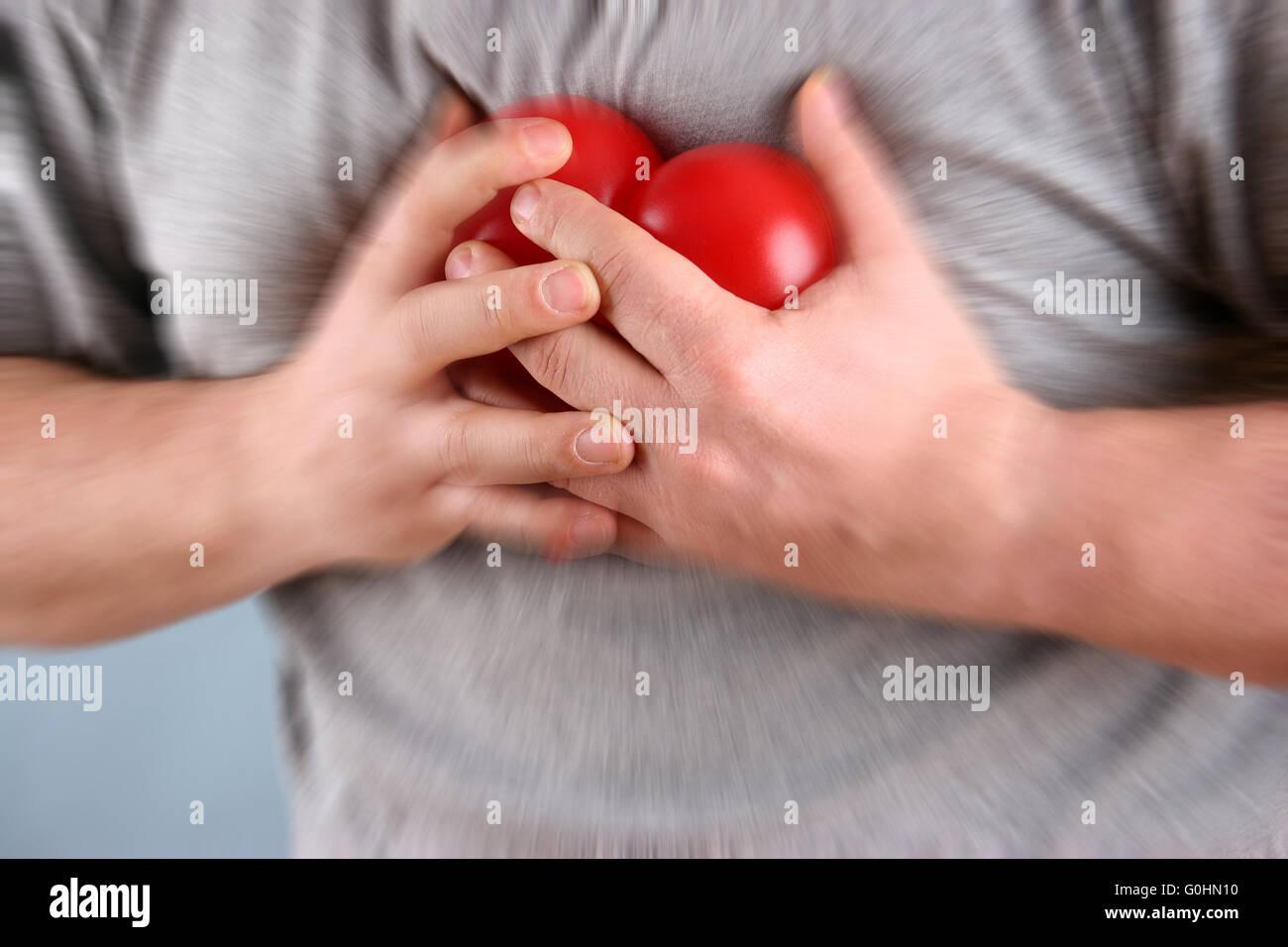 Herzbeschwerden - heart trouble Stock Photo