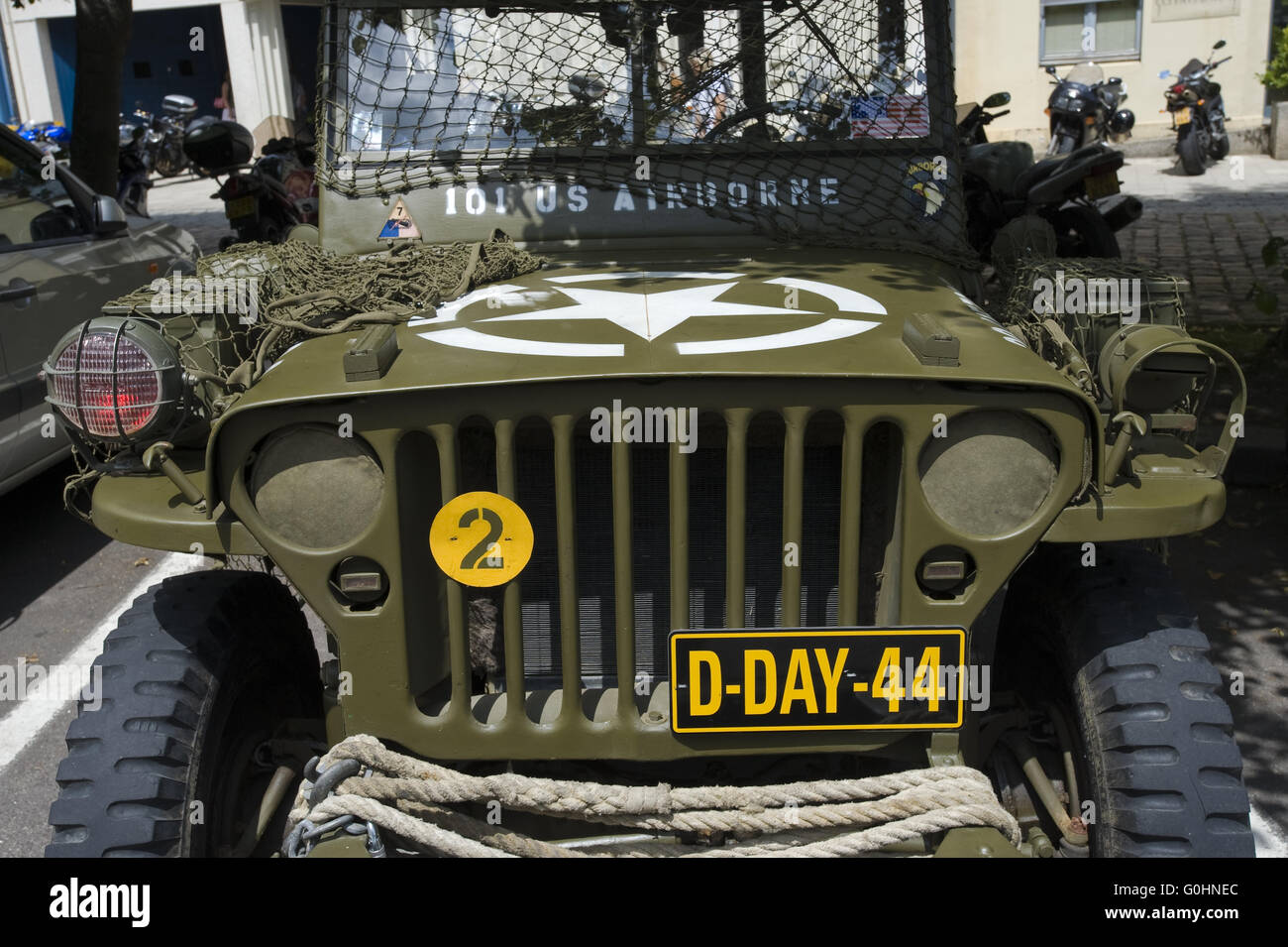 D-Day Landejeep Stock Photo