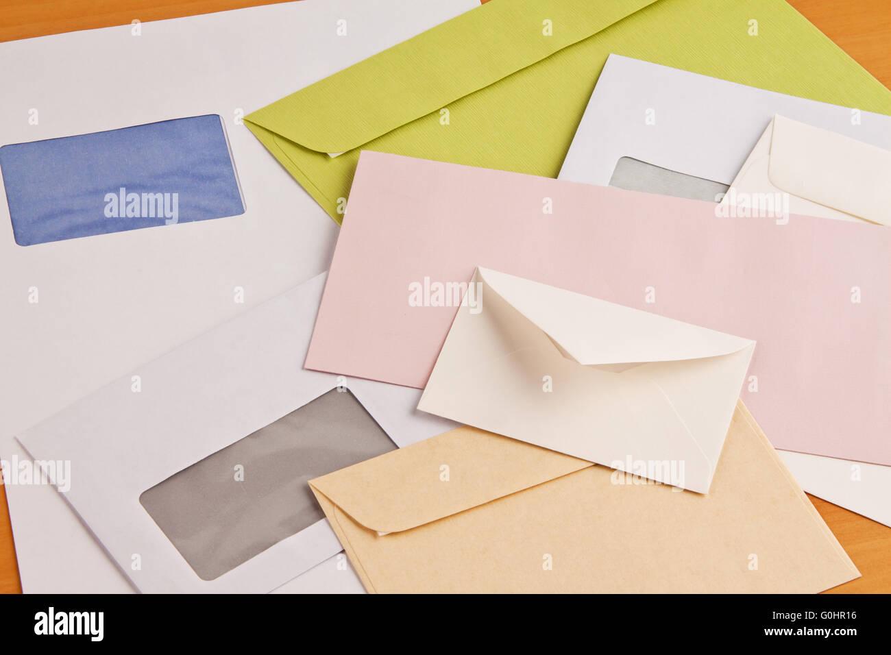 Many different envelopes Stock Photo