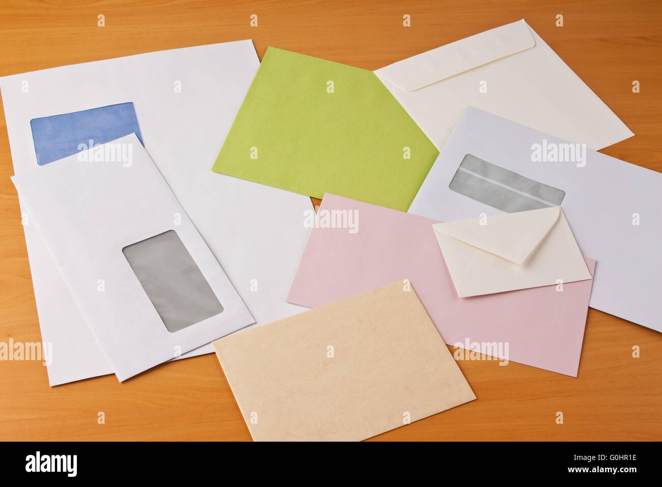Many different envelopes Stock Photo
