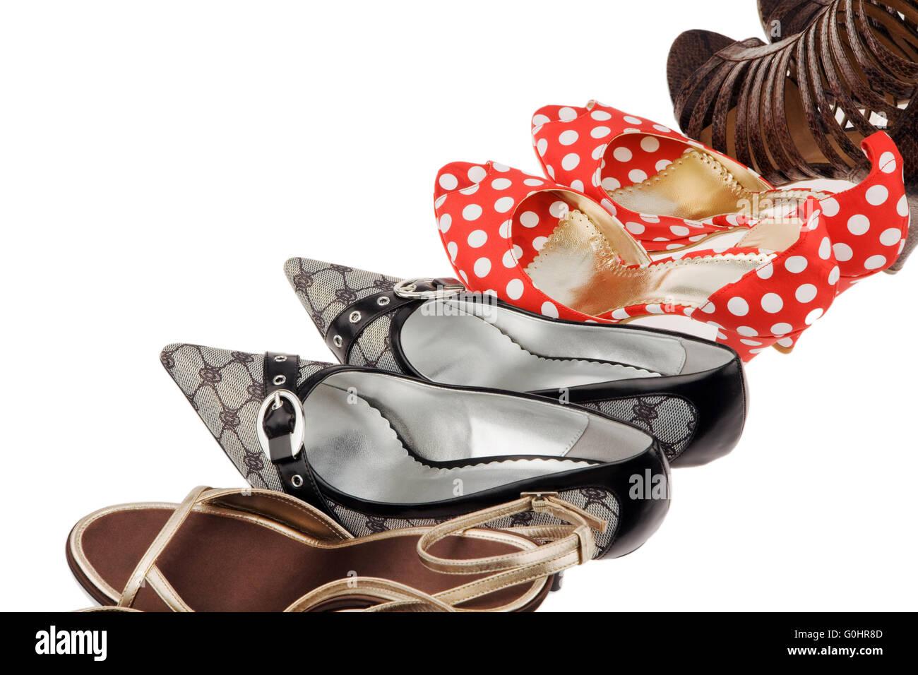Damenschuhe High heels Stock Photo