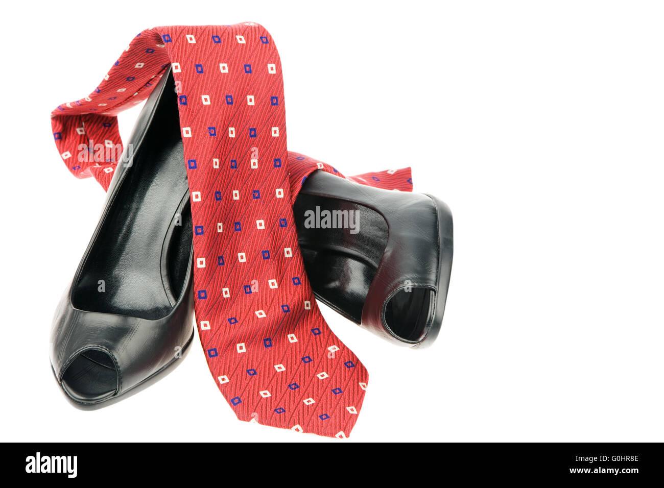 High heels und Krawatte Stock Photo
