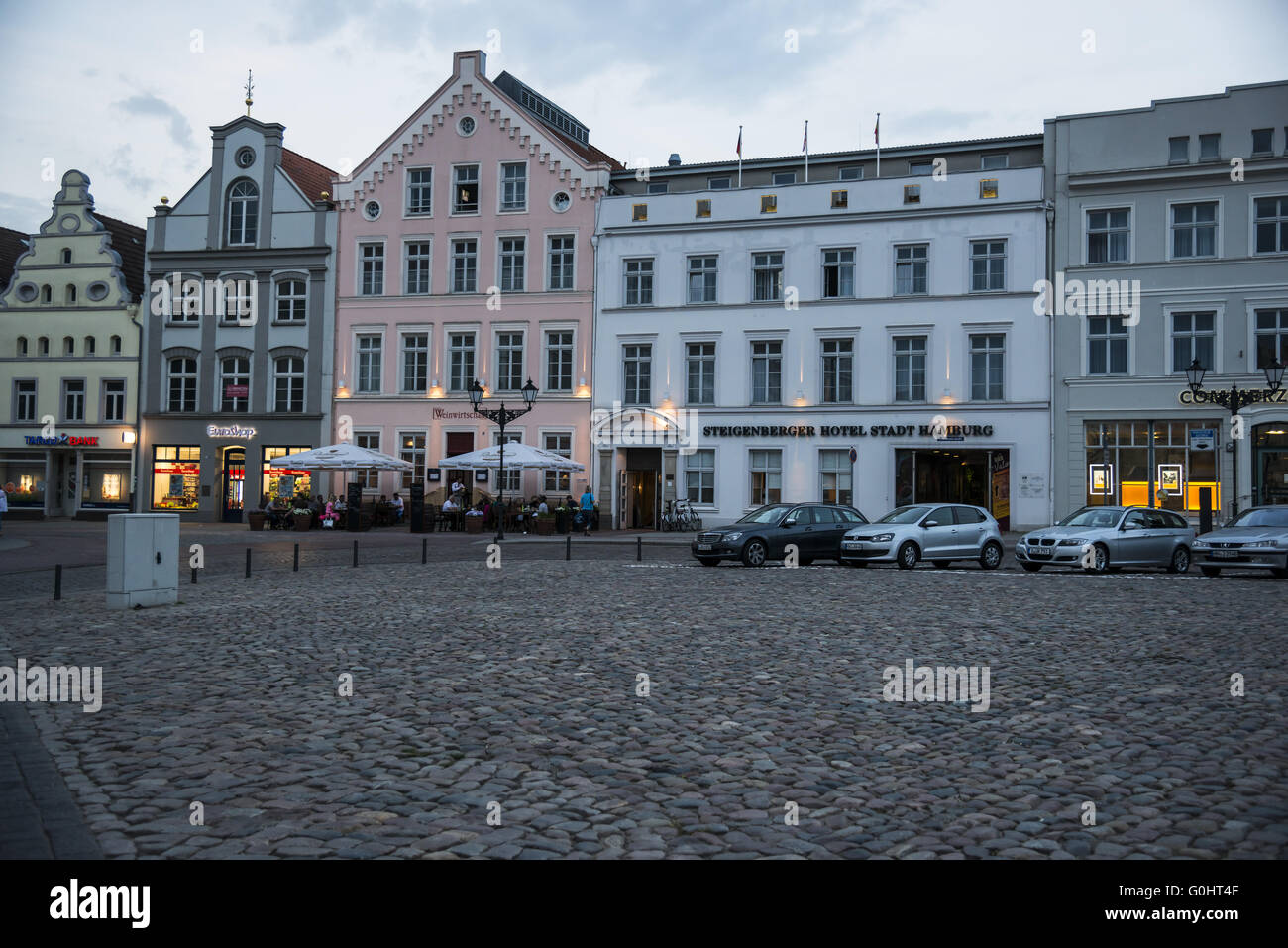 Market Square Wismar - Stock Image