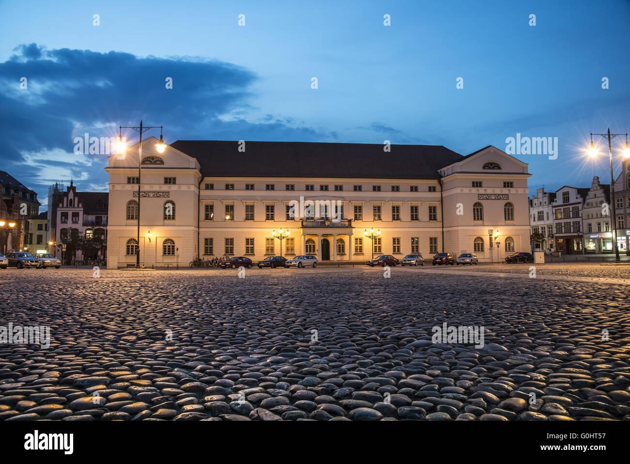 Townhall Wismar - Stock Image