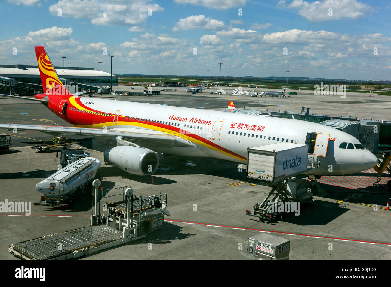 Hainan Airlines, Airbus A330, Prague, Czech Republic - Stock Image