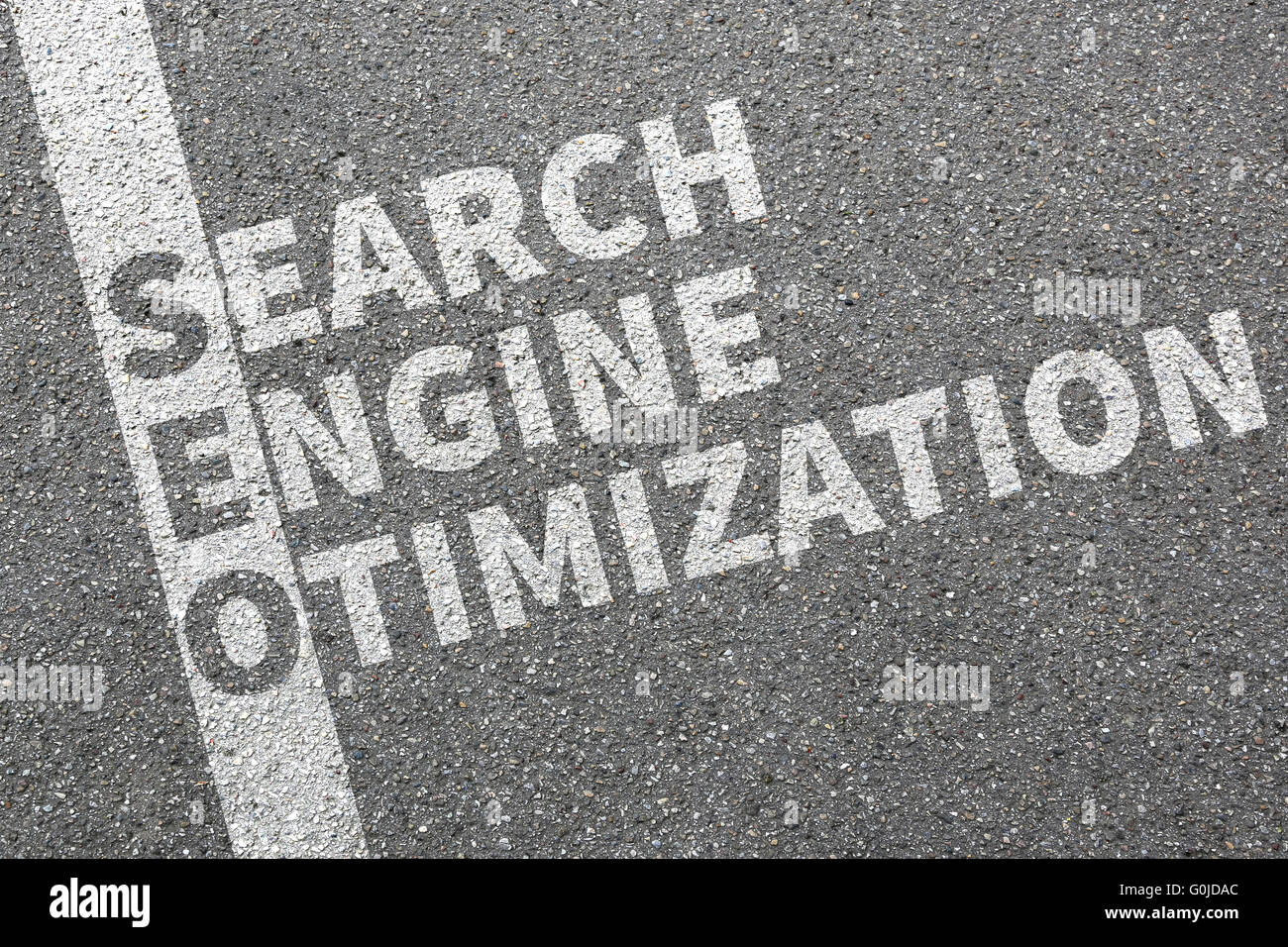 SEO Search Engine Optimization for websites on the internet on computer concept - Stock Image