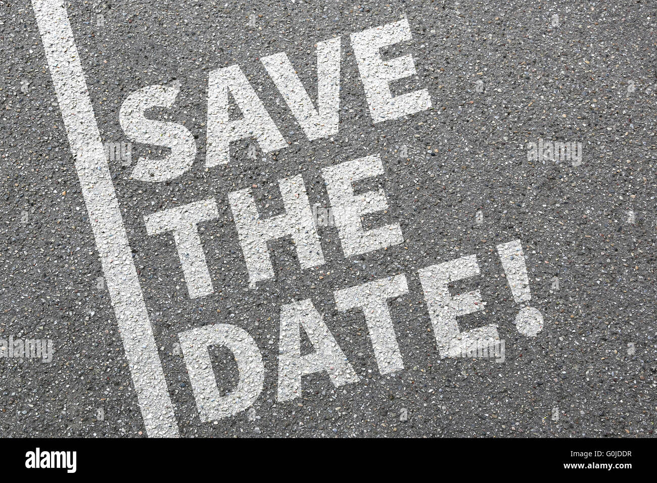 Save the date invitation message information invite business concept - Stock Image