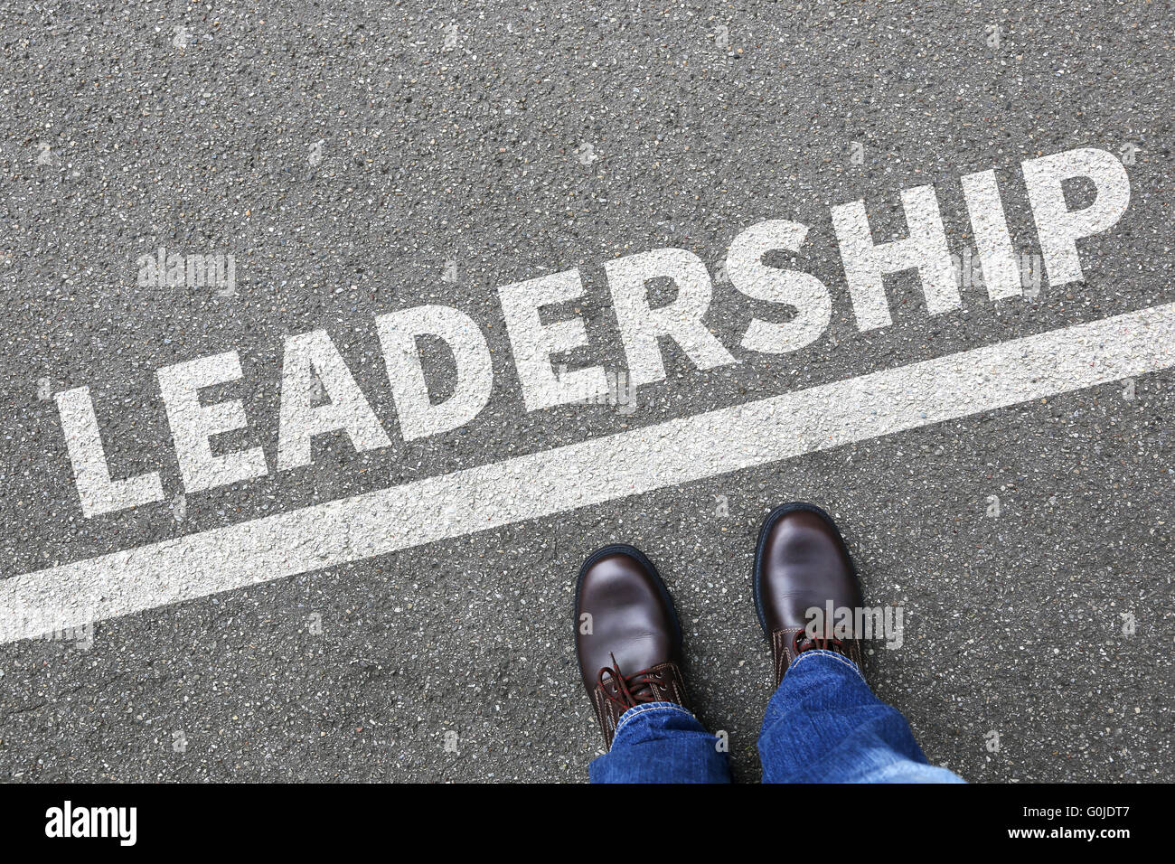 Leadership leading success successful win winning growth finances businessman business concept development - Stock Image