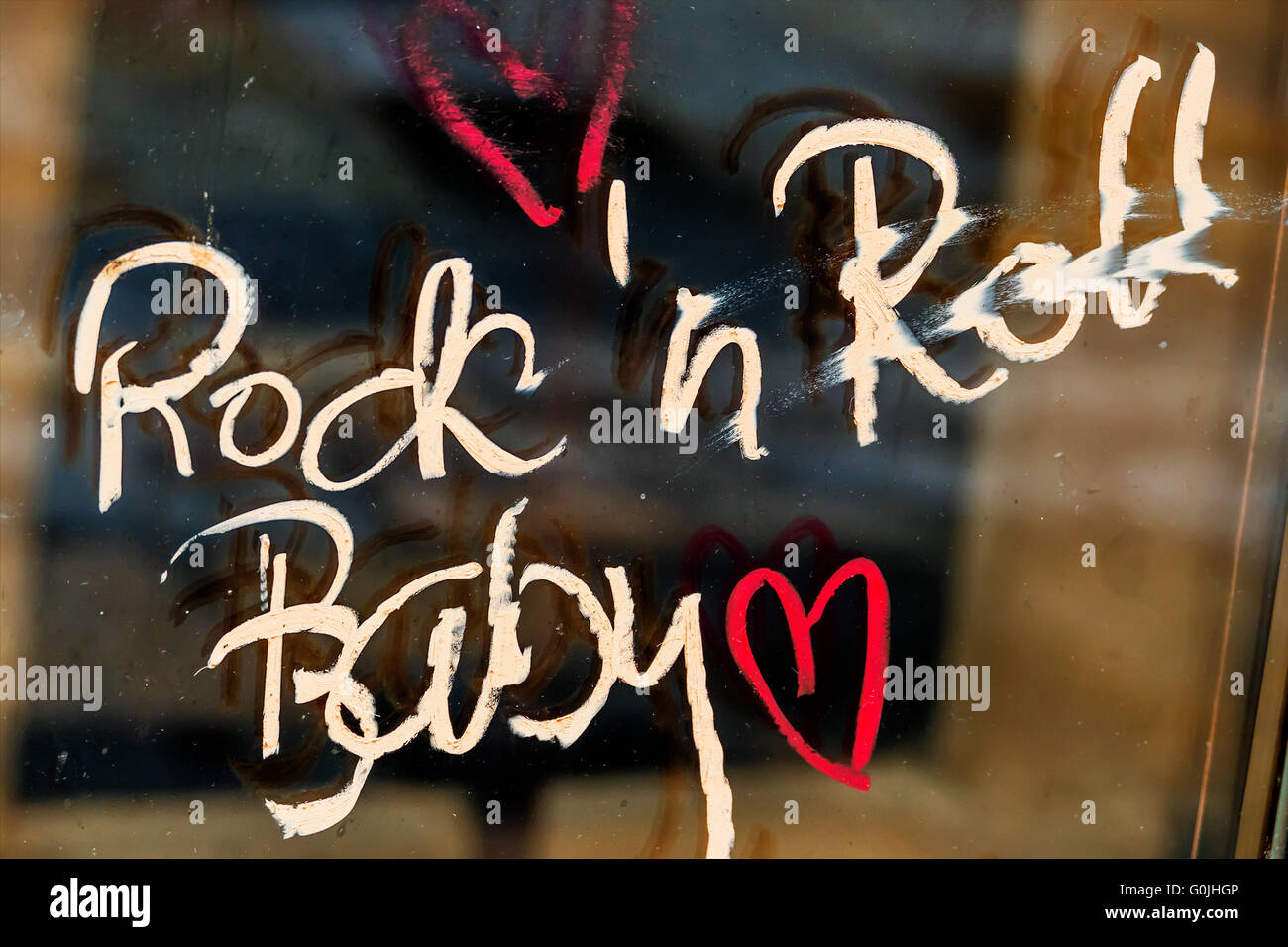 font rock'n roll baby - Stock Image