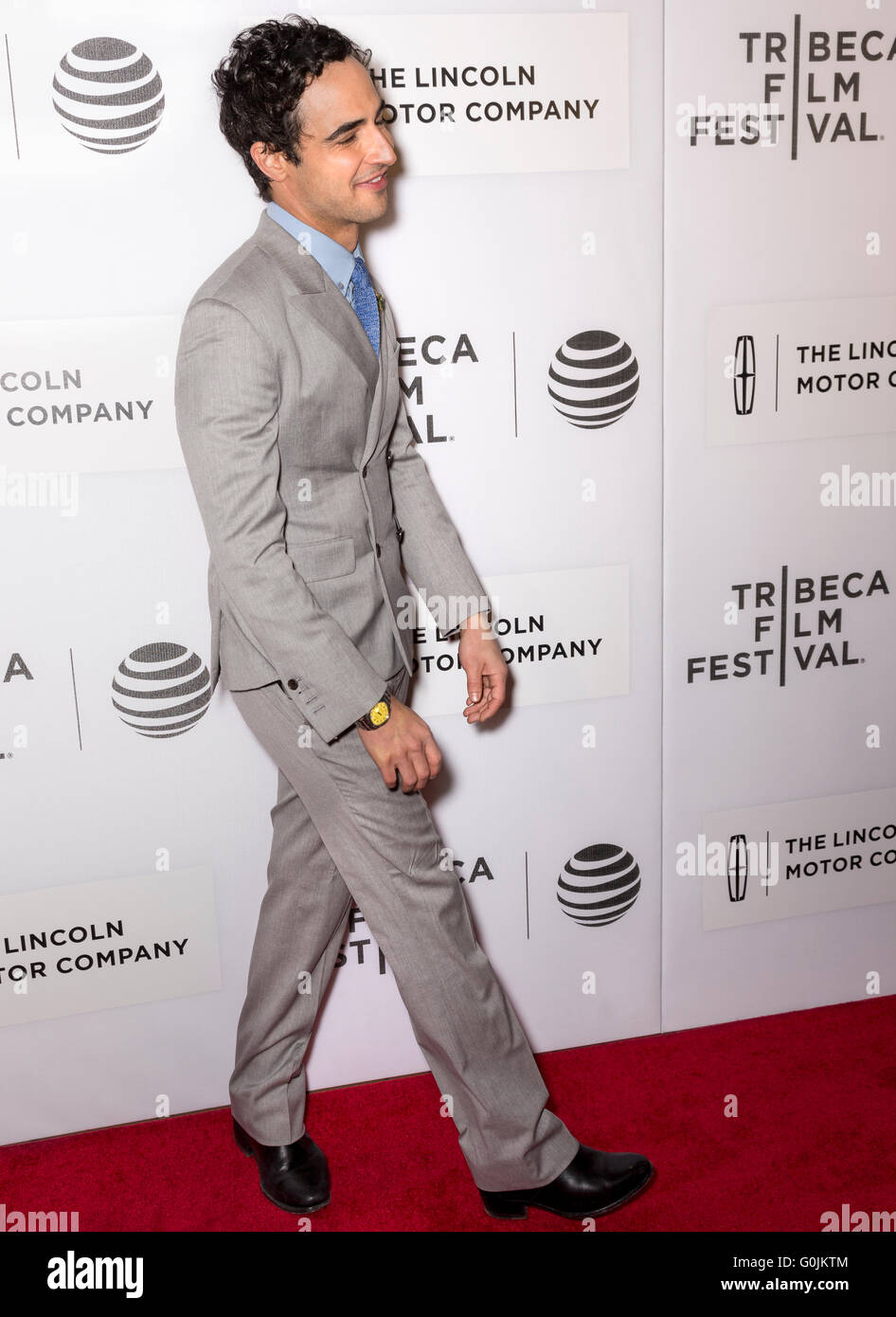 New York City, USA - April 15, 2016: Zac Posen attends the premiere of - All We Had - at John Zuccotti Theater Stock Photo