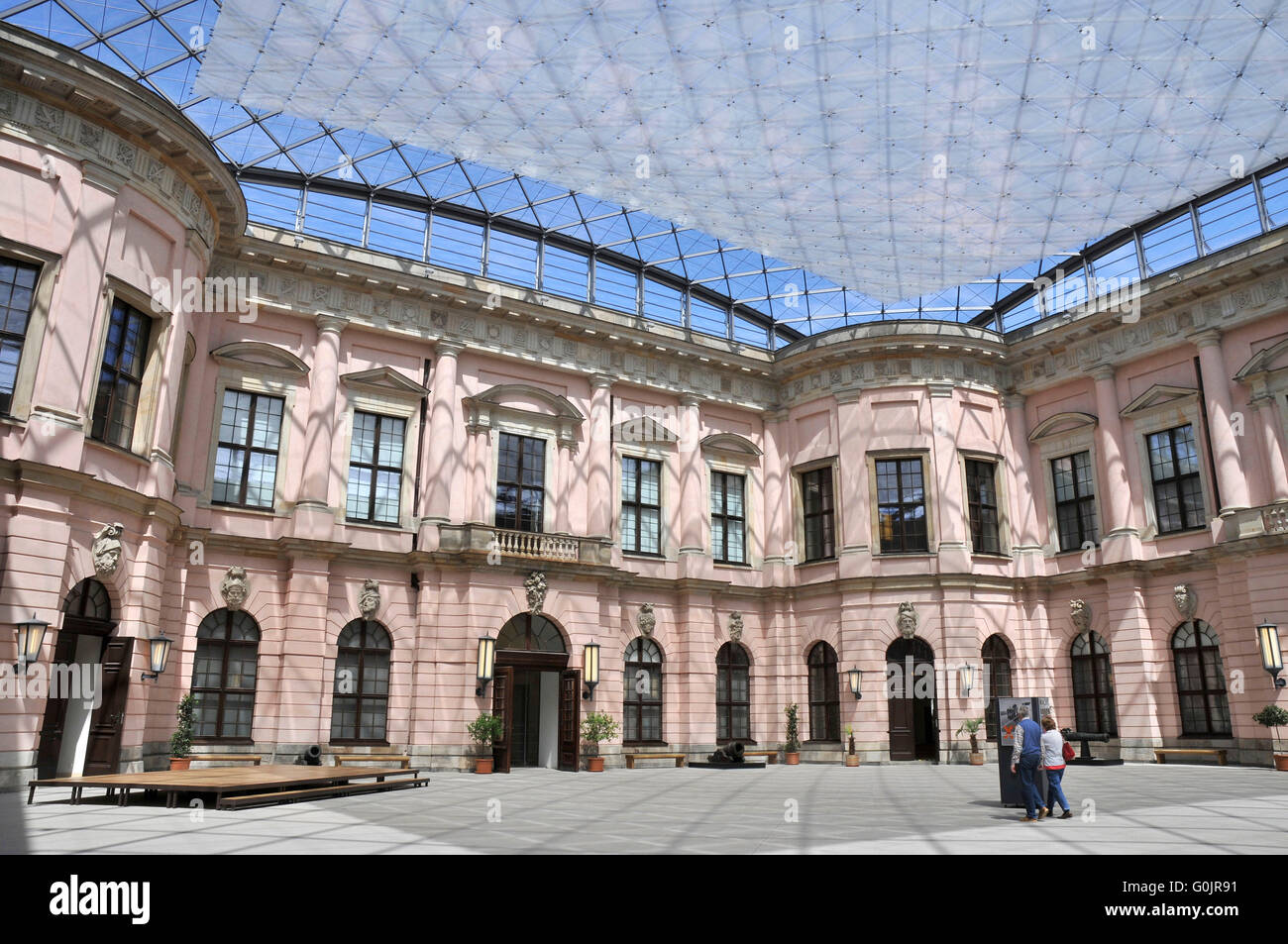 schluterhof inner courtyard deutsches historisches museum unter stock photo 103675629 alamy. Black Bedroom Furniture Sets. Home Design Ideas